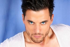 Gabriel, Blue eyes.